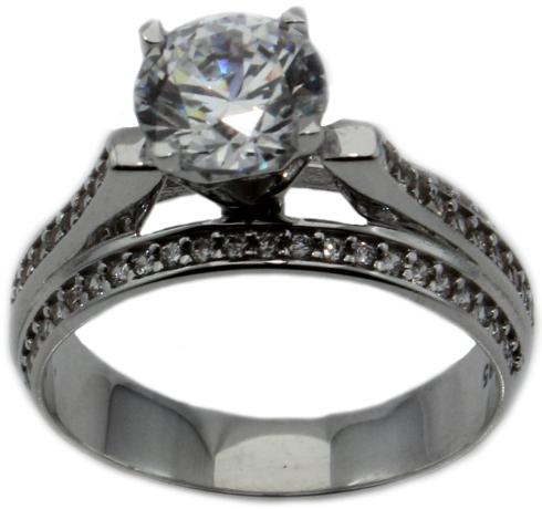 Silber Diamantring04