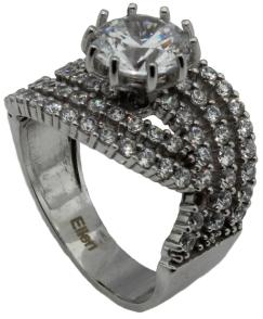 Silber Diamantring05